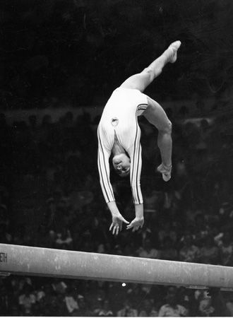 Nadia Comaneci was the first gymnast in history to receive a perfect score of 10 in Olympic Competition. #gymnastics