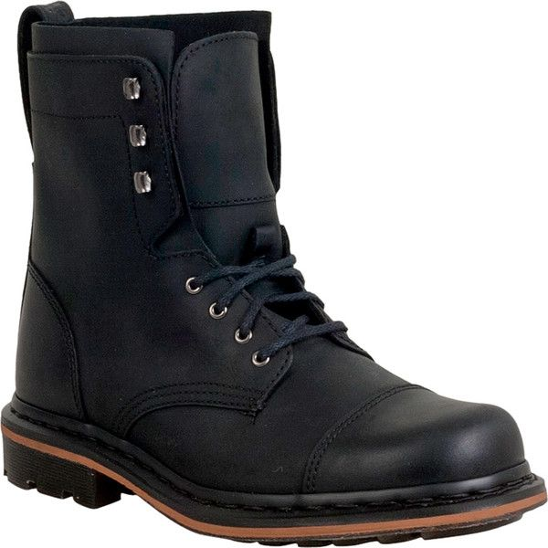 Dr. Martens Sabien Military Men's Combat Boot ($150) ❤ liked on Polyvore featuring men's fashion, men's shoes, men's boots, men's work boots, black, mens black combat boots, mens leather boots, mens black leather boots, mens rugged boots and mens army boots