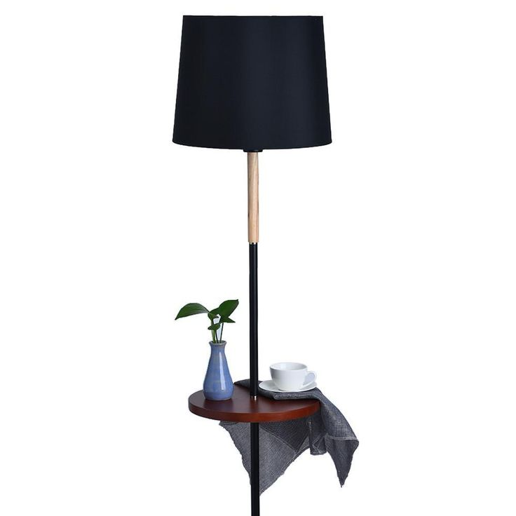 Floor Lamp Living Room Study Bedroom Vertical Storage Tray Table Modern Salon 3 Floor Lamp Vertical Storage