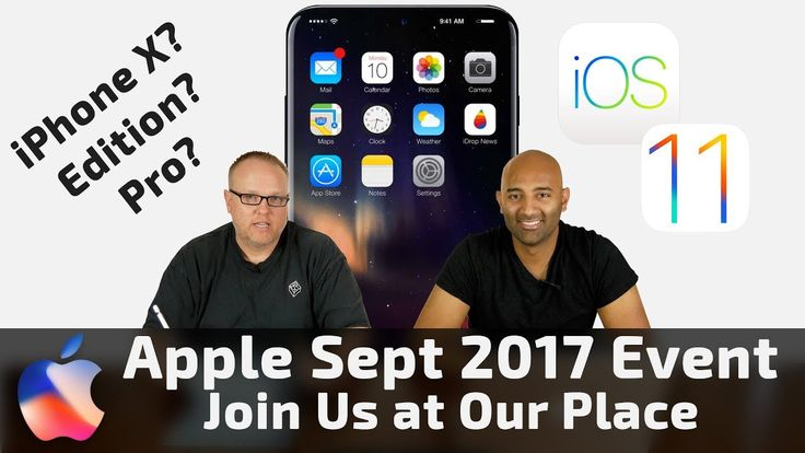 Apple Sept 2017 Event & What We Expect: OLED iPhone & iOS 11 4K Apple TV Apple Watch 3 & More! We Talk about all the Rumors about the upcoming Apple Event on September 12th 2017. Will we see an OLED iPhone X? A 4K Apple TV? An LTE Apple Watch 3? Fun stuff to speculate on and look forward to. What do you think Apple will announce? Let us know in the Comments!  Live Stream the Apple Event here on September 12 2017 at 10am PST: http://ift.tt/2wLOiSf  Gear We Use for Our Videos…