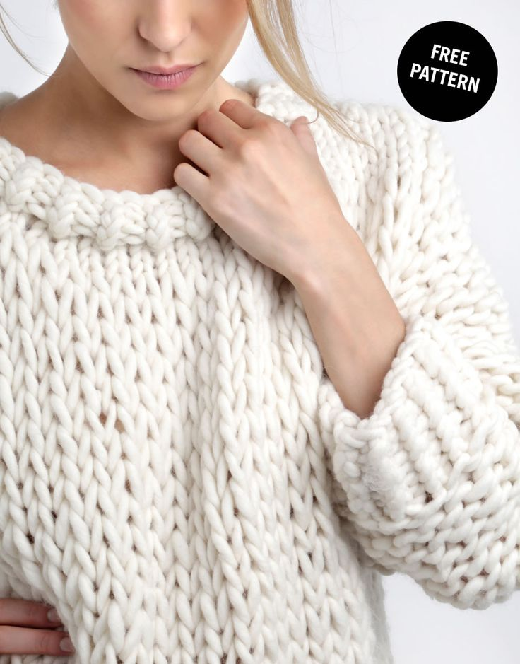 Free knitting pattern for the Wonderwool Sweater by Wool and the Gang in Crazy Sexy Wool