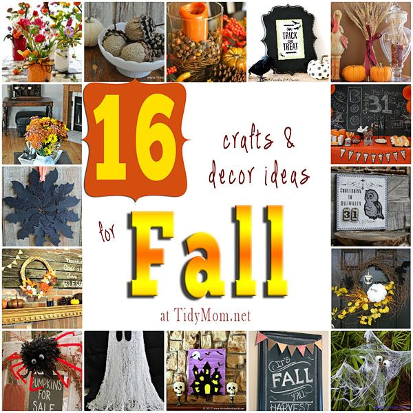 Fall Halloween Craft Ideas Part - 20: 16 Fall Crafts And Decor Ideas