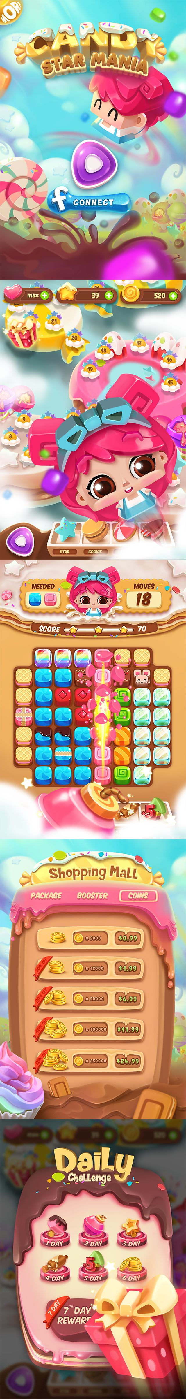 Candy Star Mania on Behance