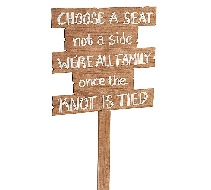 Make seating easy with our fun natural wood wedding signs! #burtonandburton
