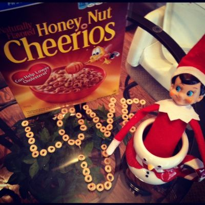 Elf on the Shelf Idea - Love You in Cheerios