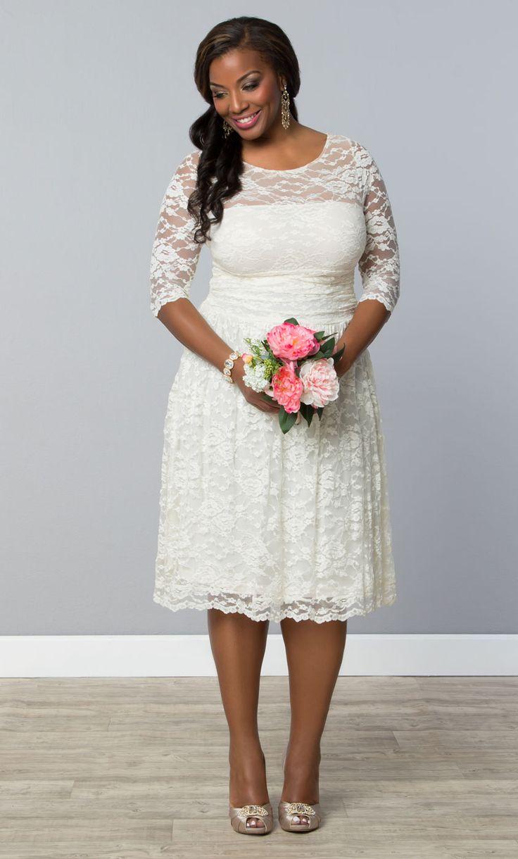 78  images about Short Plus Size Wedding Dress on Pinterest  Plus ...