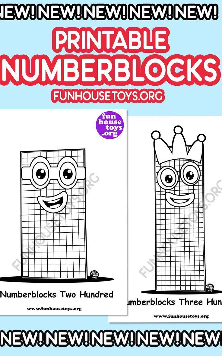 Numberblocks Printables Fun Printables For Kids Coloring Pages For Kids Coloring Pages