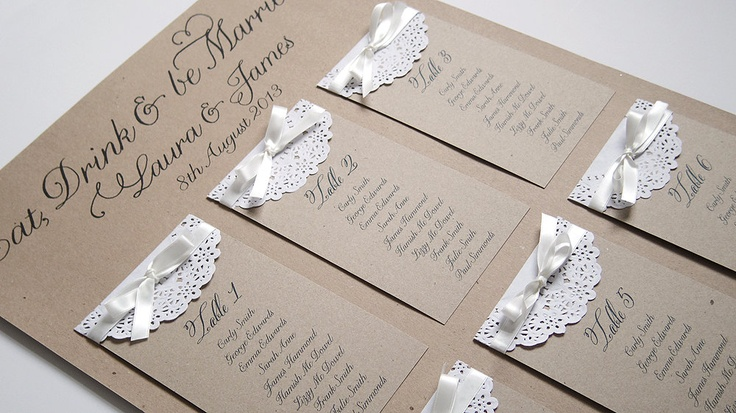 Paper Lace Table Plan A2.