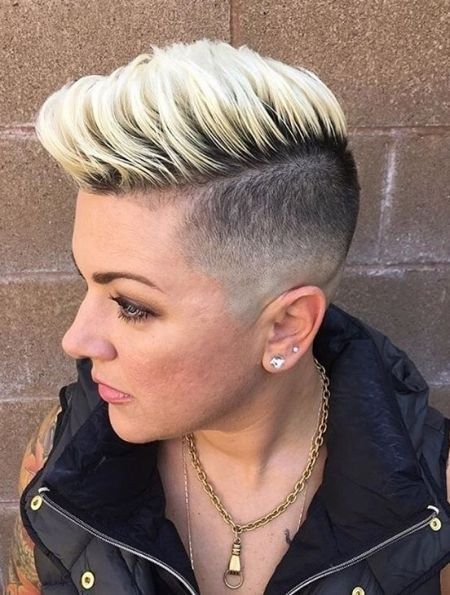 Stylish Short Fade Haircut For Women 01   Hairs   Shaved