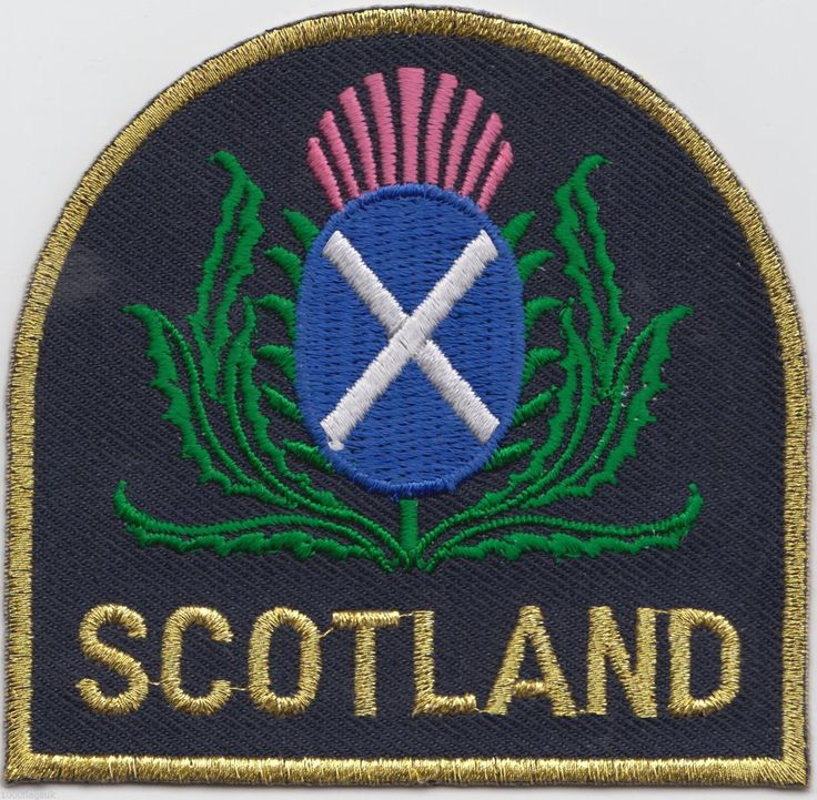 scotland flag patch