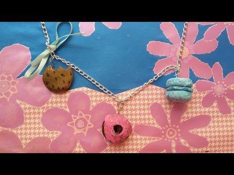 Kendin Yap- Donut, Makaron ve Kurabiye Kolye/ DIY Donut, Macaroon, Cookie Necklace - YouTube
