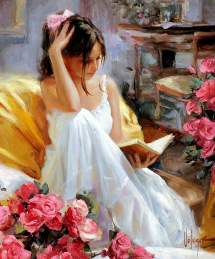 'The time of reading' of Vladimir Volegov  (contemporary artist)