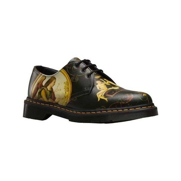 Dr. Martens Di Paolo 1461 3 Eye Shoe - Di Paulo Backhand Lace Up Shoes (185 CAD) ❤ liked on Polyvore featuring shoes, dr martens footwear, laced up shoes, renaissance shoes, slip resistant shoes and renaissance footwear