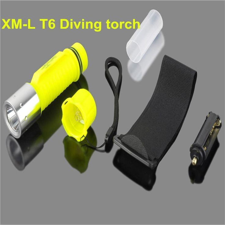 2000LM XM-L T6 LED Waterproof scuba Diver Diving Flashlight underwater Dive Torch light lamp for AAA/18650 Battery //Price: $8.63//     #electonics