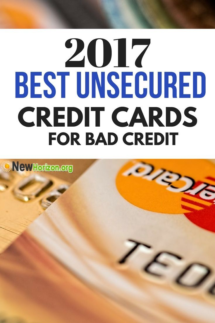 Unsecured Credit Cards For Bad Credit Unsecuredcreditcards