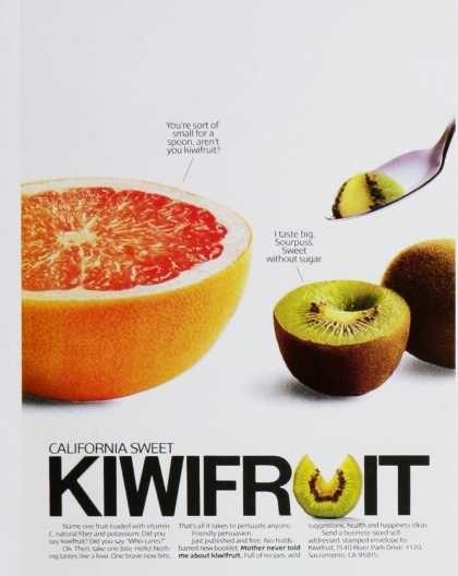 1980's Ad For California Kiwi Fruit (avec Images