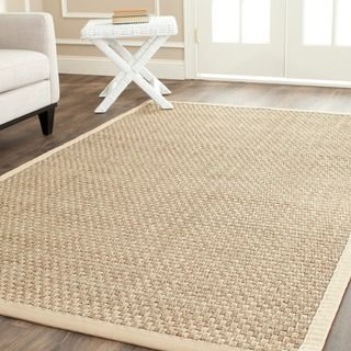 Safavieh Casual Natural Fiber Natural and Beige Border Seagrass Rug (6' x 9')…