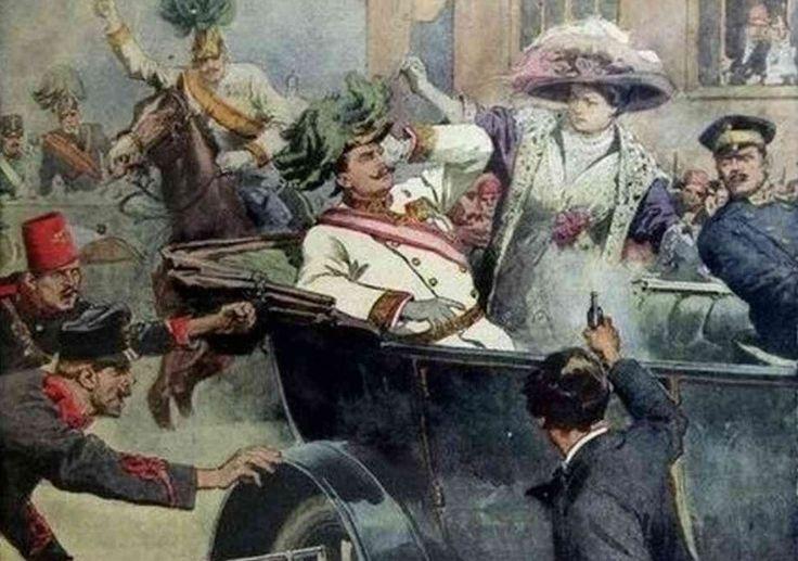 Sarajevo, Gavrilo Princip werd bekend als de moordenaar van aartshertog Frans Ferdinand van Oostenrijk in 1914. na deze daad legde Oostenrijk-Hongarije een oorlogsverklaring af tegen Servië. Principe hoorde bij de Servië