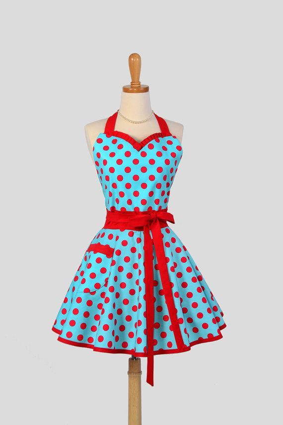 Sweetheart+Retro+Apron++Handmade+Sexy+Flirty+by+CreativeChics,+$42.00