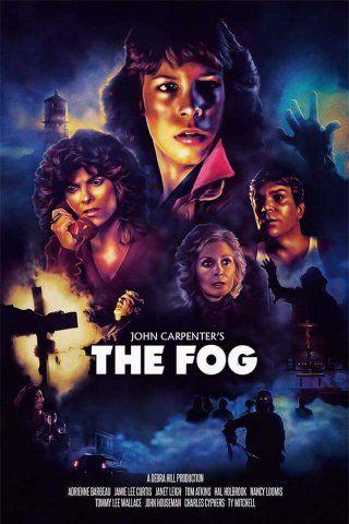 Adrienne Barbeau, Jamie Lee Curtis, Janet Leigh, and John Houseman in The Fog (1980)