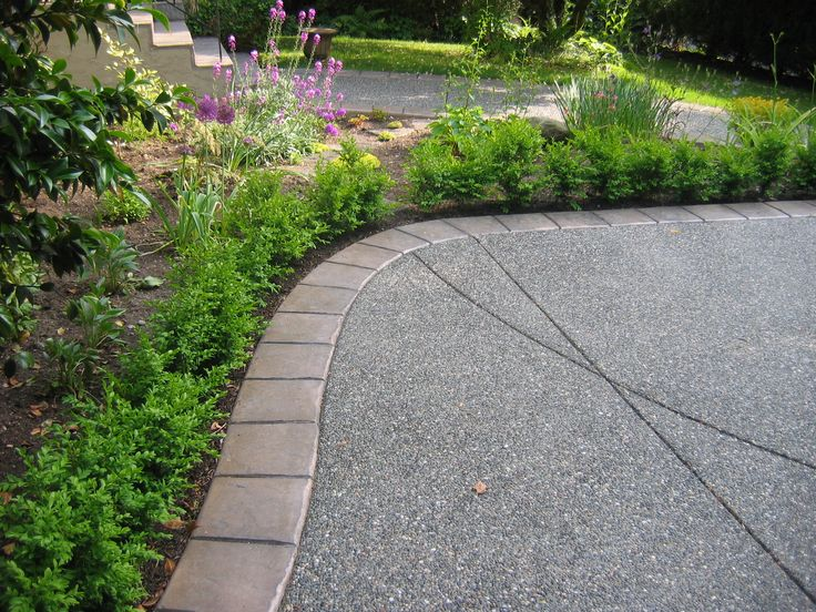 Concrete Walkway Ideas : Exposed aggregate concrete driveway walkway ideas