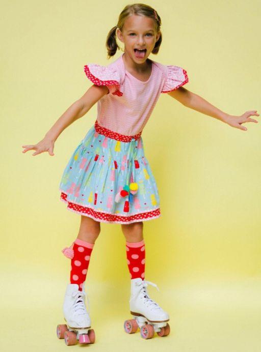 Zoe Strawberry Stripe Princess Ice Cream Dress