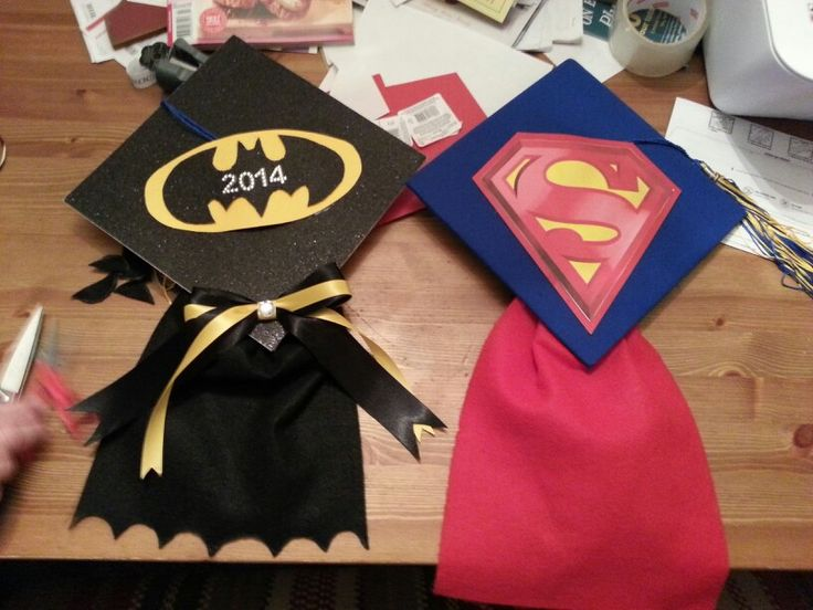 Batman vs. Superman graduation caps!