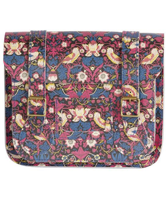 Small Strawberry Thief Liberty Print Satchel, Dr. Martens  It's leather so I wouldn't buy it, but it's lovely.