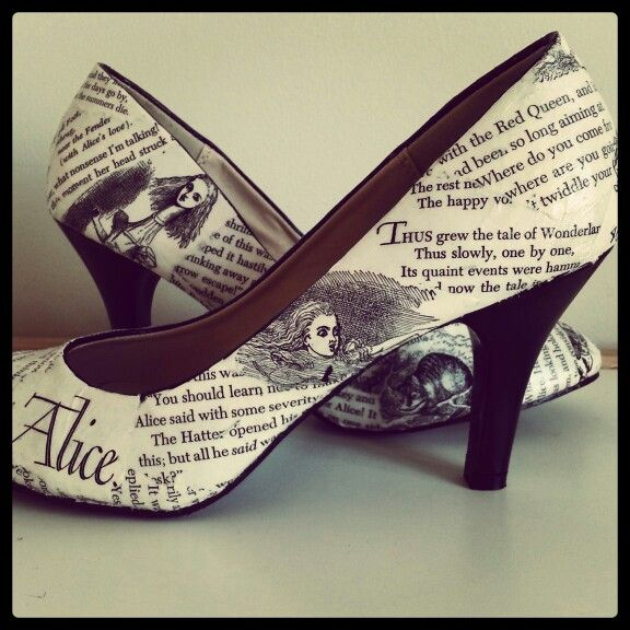 Alice in Wonderland shoes made my Lish Designs
