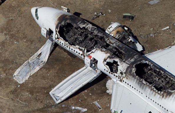 Asiana Airlines Flight 214 crashed at SFO International Airport- Pictures and debris field from the crash