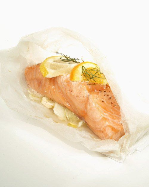 Mediterranean Salmon Cooked in Parchment | Recipe