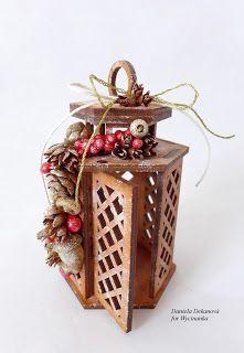 winter lantern decoration