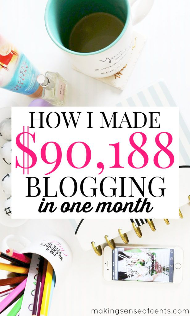 In August of 2016, I earned $90,188.40 blogging. Yes, just one month! I share everything in my income reports so if you want to learn how to make money blogging, you need to check this out.