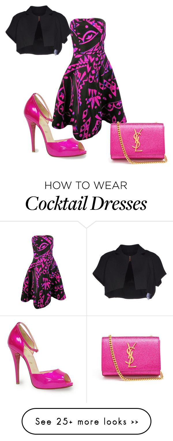 """Girl lets gooooo"" by ms-free on Polyvore featuring Oscar de la Renta, Christian Louboutin, Space Style Concept and Yves Saint Laurent"