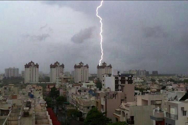 Lightening at Rajkot, Gujarat - Aarav Arav
