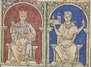 Henry I and Stephen I of England. Stephen was Henry's nephew