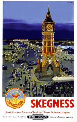 LINCOLNSHIRE - Skegness, BR poster, 1948-1965 - ENGLAND