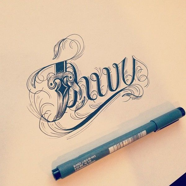Hand Type Vol. 3 by Raul Alejandro , via Behance