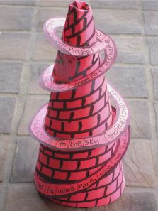 Printable Tower of Babel Paper Craft for Kids #bible