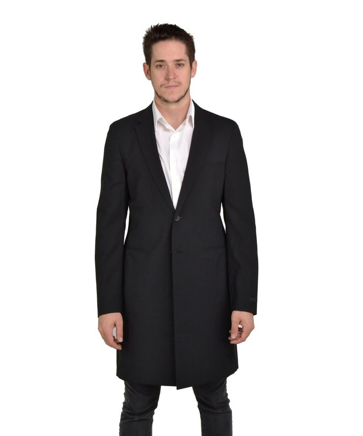 PRADA Men'S Lightweight Wool Trench Coat Black It 50'. #prada #cloth #cashmere