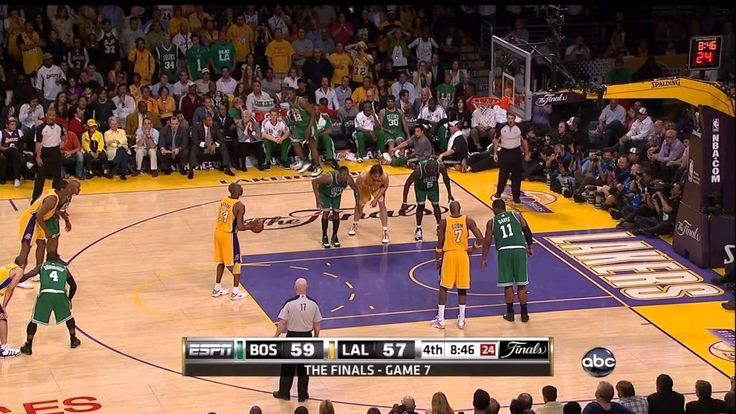 The Series--Game 7 between the Celtics and Lakers in 2010. Kendrick Perkins would be lost and Rasheed Wallace would become a starter. Still, the Celtics would have a chance to win the title on the road in the Finals, something unheard of. They would meet in 2008, but this would be more competitive and serve as the death knell of the Kevin Garnett Celtics making it to the Finals.