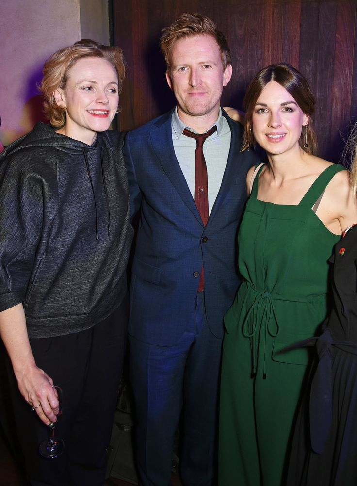 Jessica Raine, Tom Goodman-Hill and Maxine Peake attend The Bash at the Royal Court Theatre in London
