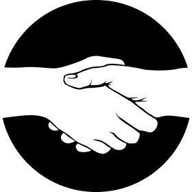 Normaler Handschlag - Ein normaler Handschlag unter Kumpels zur Begr��ung.