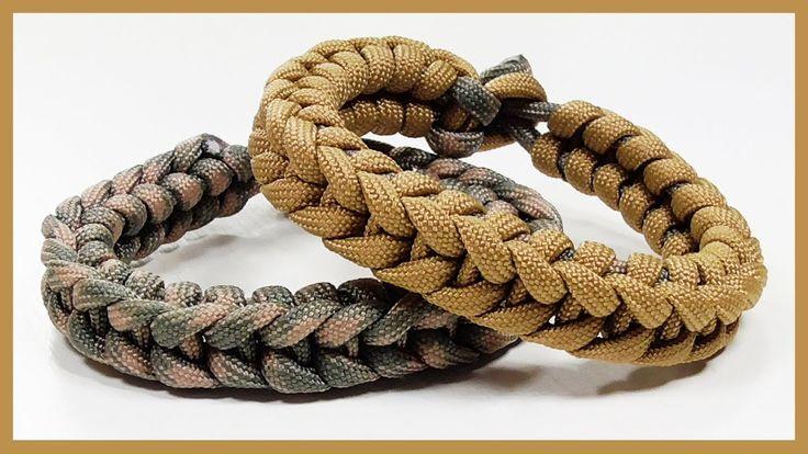 "Paracord Bracelet: ""Insignia"" Bracelet Design Without Buckle - YouTube"