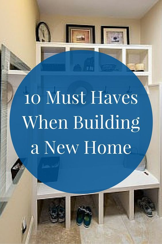 "When working with a custom homebuilder, you can create the house of your dreams. Look at these 10 ""must haves"" and let your creativity flow from there!"