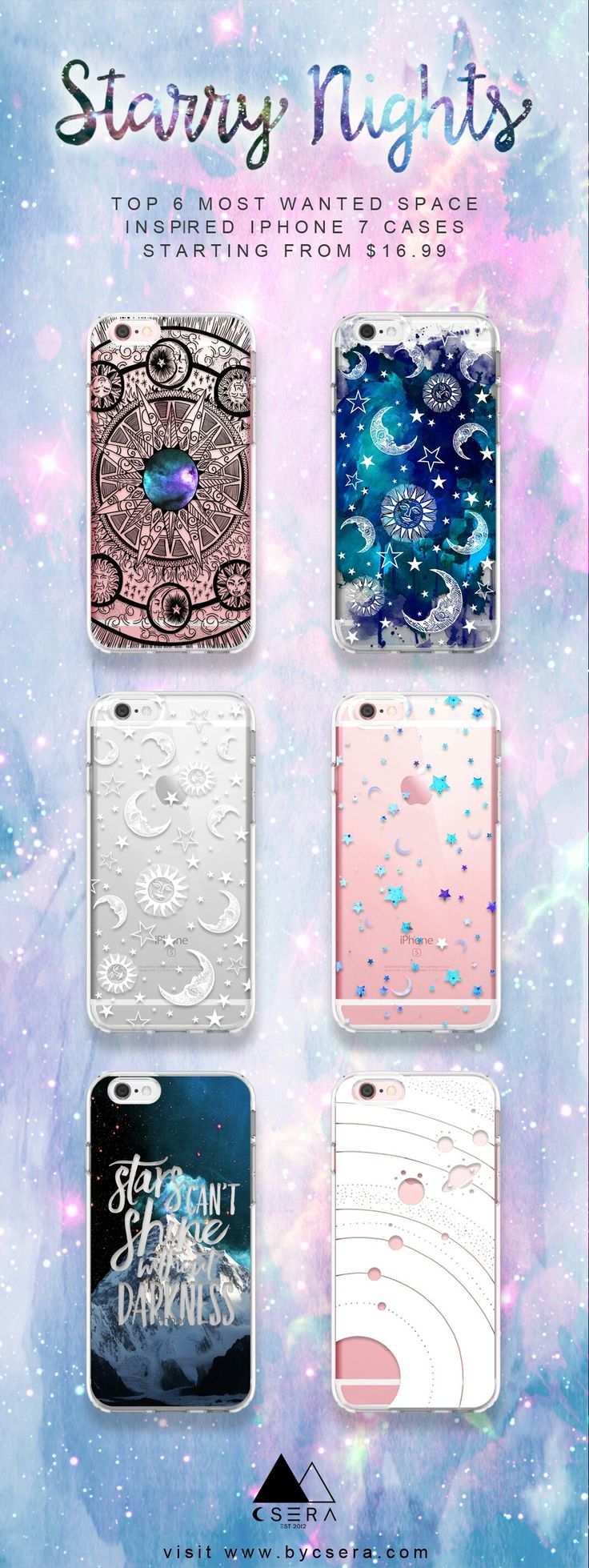 Top 6 Most Wanted Space Inspired iPhone 7 Cases Starting From $16.99 Visit www.bycsera.com