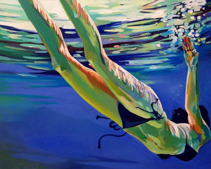 "Saatchi Online Artist: laura baker; Oil, 2008, Painting ""Swimmer #2"": Paintings Art, Oil Paintings, Baker Art, Paintings Swimmers, Online Artists, Saatchi Online, Artists Laura, Saatchi Artists, Laura Baker"