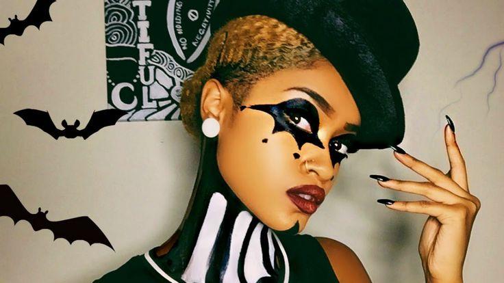 ♠ Evil Jester Halloween Makeup Tutorial! ♣ - http://urbangyal.com/%e2%99%a0-evil-jester-halloween-makeup-tutorial-%e2%99%a3/