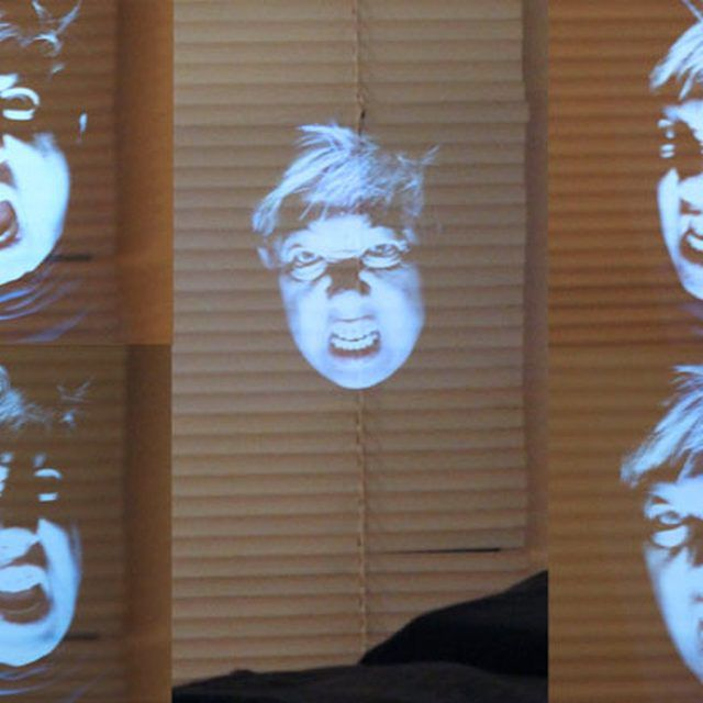 Create your own ghost illusion. Great idea for haunted houses!