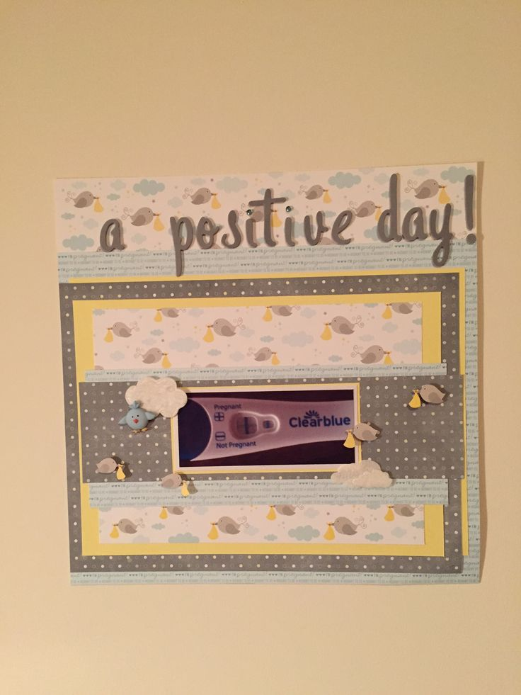 Pregnancy scrapbooking-a cute title for first page about the pregnancy test!